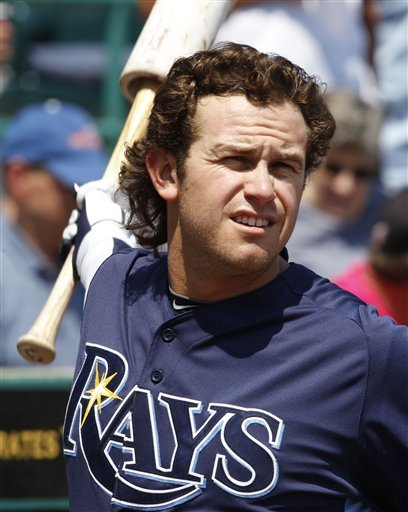 Tampa Bay Rays' Evan Longoria Warming Up For A Spring Training Baseball Game Against The Pittsburgh Pirates In