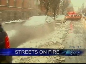 Underground Manhole Fires Force Hundreds Into Cold