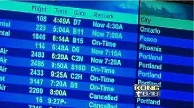 Flights finally moving at Sea-Tac