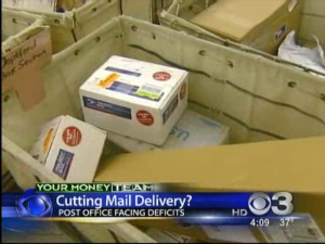 Mail Delivery May Be Cut Back