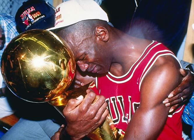 Michael Jordan First Trophy