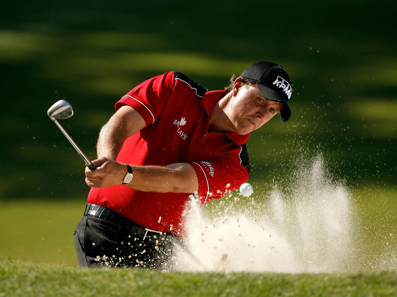 Phil Mickelson sand shot