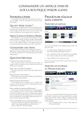 Ce guide vous expliquera comment commander chez Aeon Games