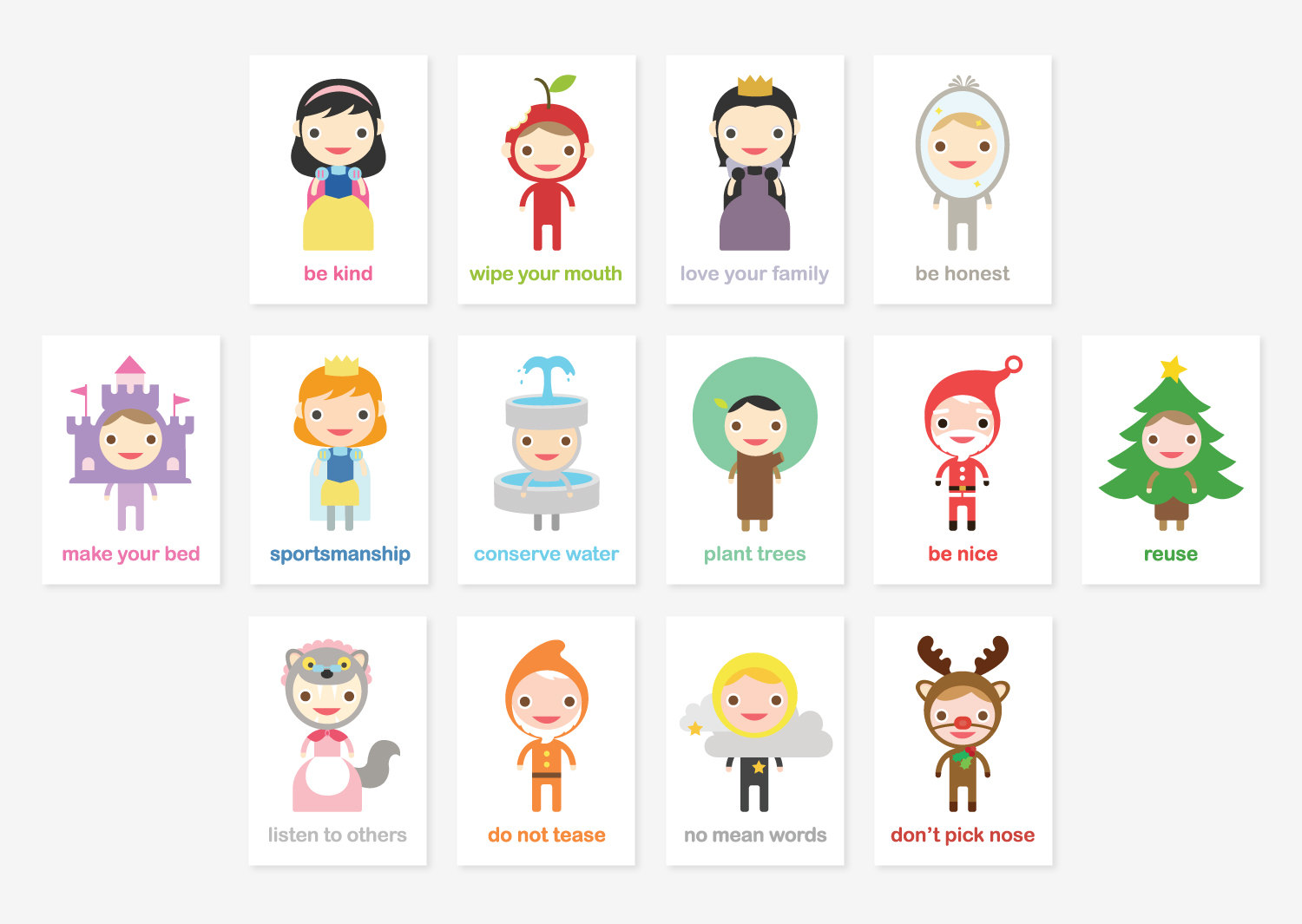 Tofufu Happy Manners Card Set C Of 14