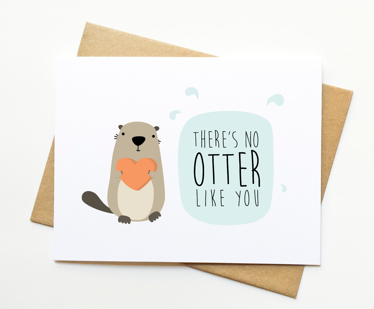 No Otter Like You Valentine Funny Love Pun Card Le