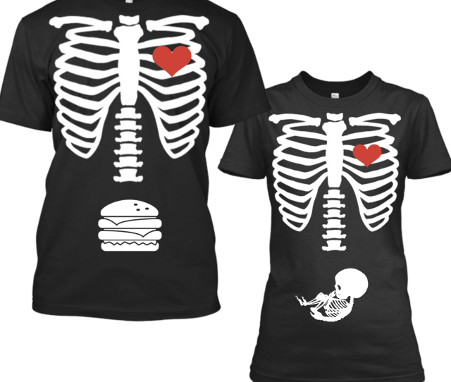Matching Halloween Pregnancy Announcement Shirts Skeleton Baby Announcement Maternity Shirt Funny Halloween Matching Tshirts