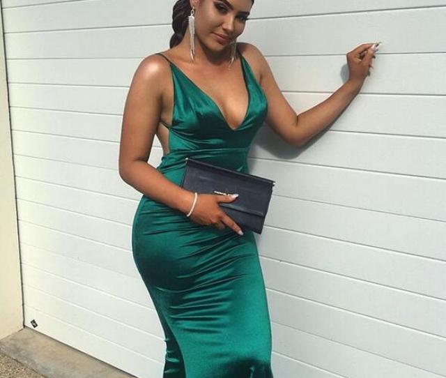 Plus Size Dark Green Emerald Green Simple Mermaid Prom Dresses Sexy Deep V Neck Sleeveless Evening