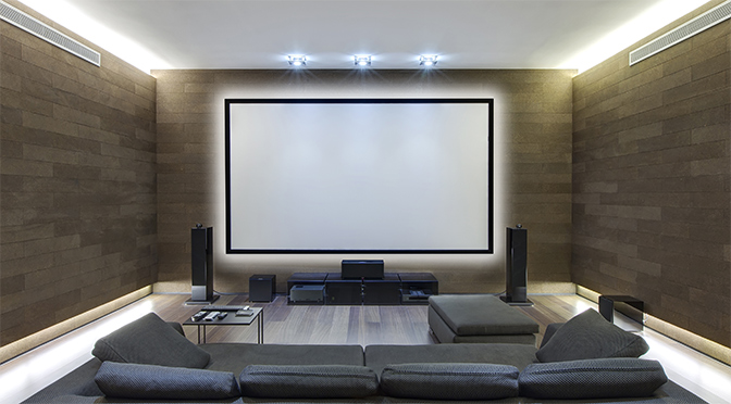 home theater lighting done right