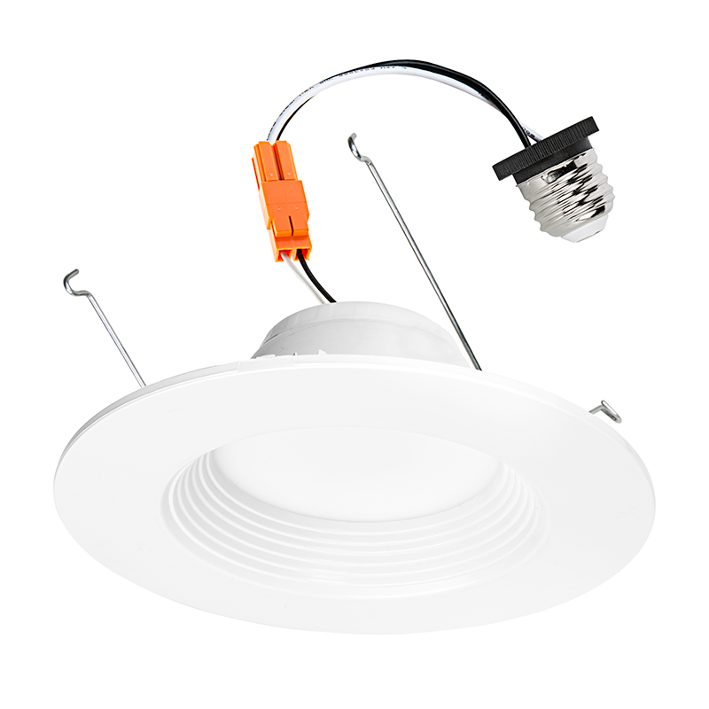 led recessed lighting kit for 5 to 6 cans retrofit led downlight w baffle trim 60 watt equivalent dimmable 900 lumens