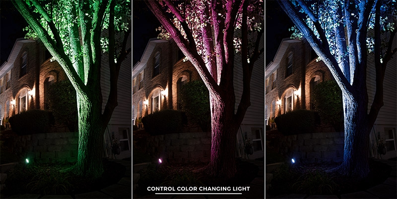 4w color changing wifi led landscape spotlight rgb white smartphone compatible optional remote
