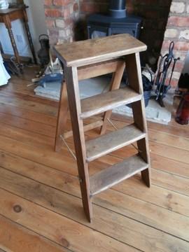Old Step Ladders | Wood Steps For Sale | Wood Hand | Home | Design | Non Slip | Platform