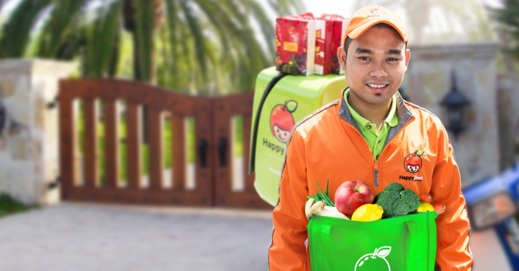monthly shopping of happyfresh applications