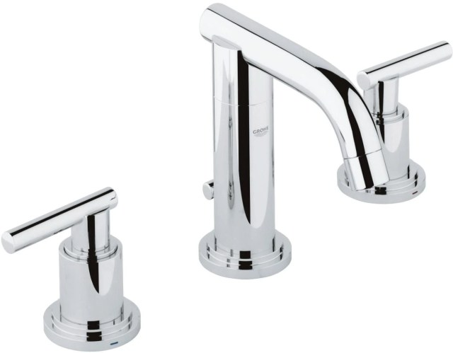grohe atrio starlight chrome 8 widespread two handle bathroom faucet s size 2007200a