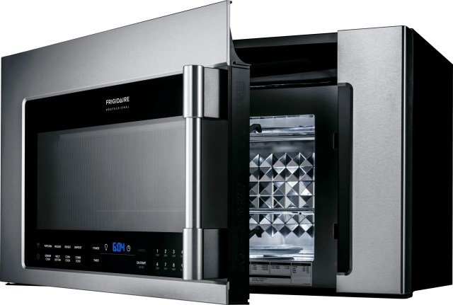 frigidaire professional 1 8 cu ft stainless steel over the range convection microwave fpbm3077rf