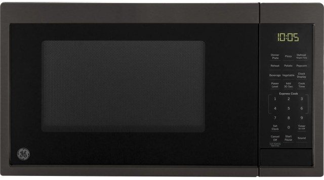 ge countertop microwave black stainless steel jes1095bmts