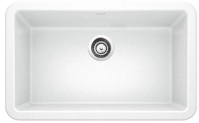 blanco ikon white 30 silgranit granite composite farmhouse apron front single bowl kitchen sink 401734