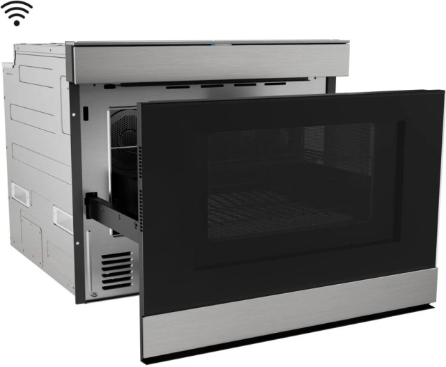 sharp 1 4 cu ft stainless steel built in microwave smd2499fs