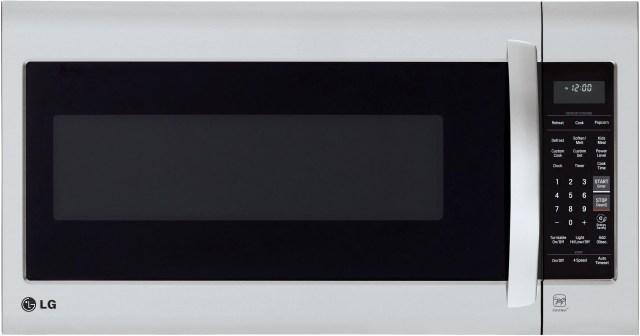 lg 2 0 cu ft stainless steel over the range microwave lmv2031st