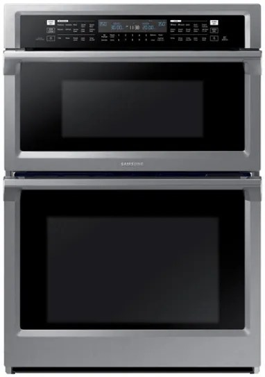 samsung 29 88 stainless steel microwave combination wall oven nq70m6650ds