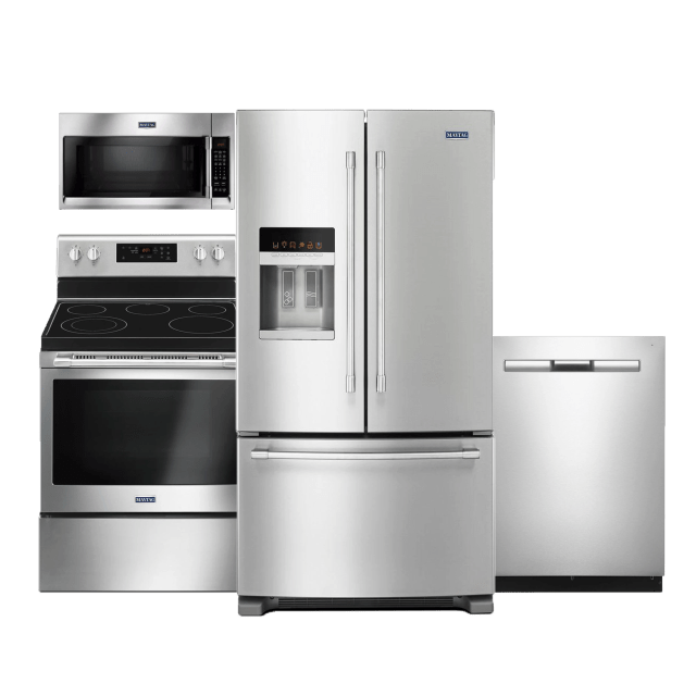 maytag 4 piece kitchen package stainless steel maytag package 4