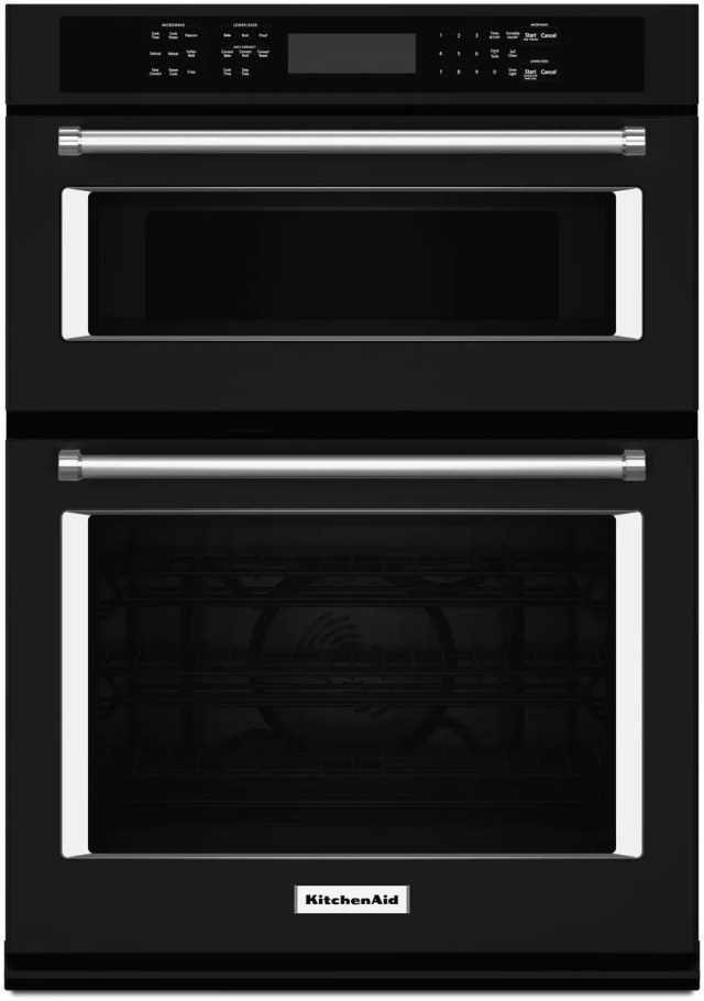 kitchenaid 30 black electric oven microwave combo built in koce500ebl