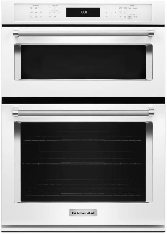 kitchenaid 27 white electric oven microwave combo built in koce507ewh