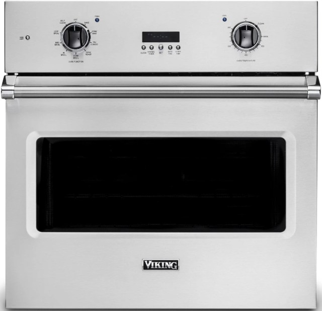 viking professional 5 series 29 88 stainless steel built in single electric select wall oven vsoe130ss