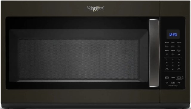 whirlpool over the range microwave fingerprint resistant black stainless steel wmh32519hv