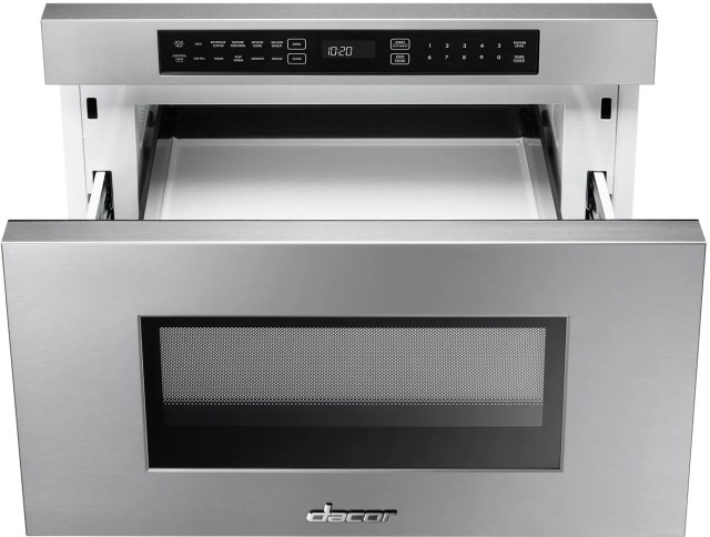 dacor contemporary 24 stainless steel microwave in a drawer dmr24m977ws