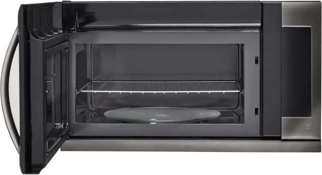 lg 2 2 cu ft black stainless steel over the range microwave oven lmhm2237bd
