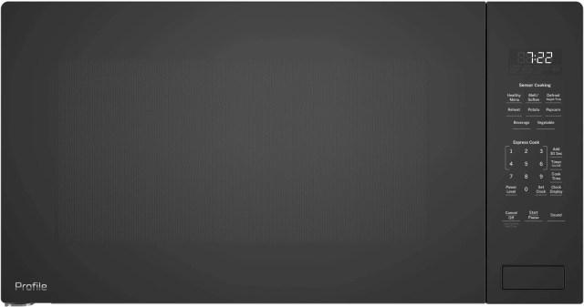 ge profile 2 2 cu ft black built in microwave oven peb7227dlbb
