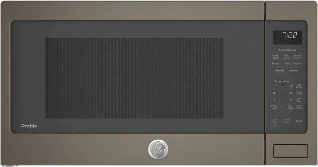 ge profile 2 2 cu ft slate countertop sensor microwave oven pes7227eles