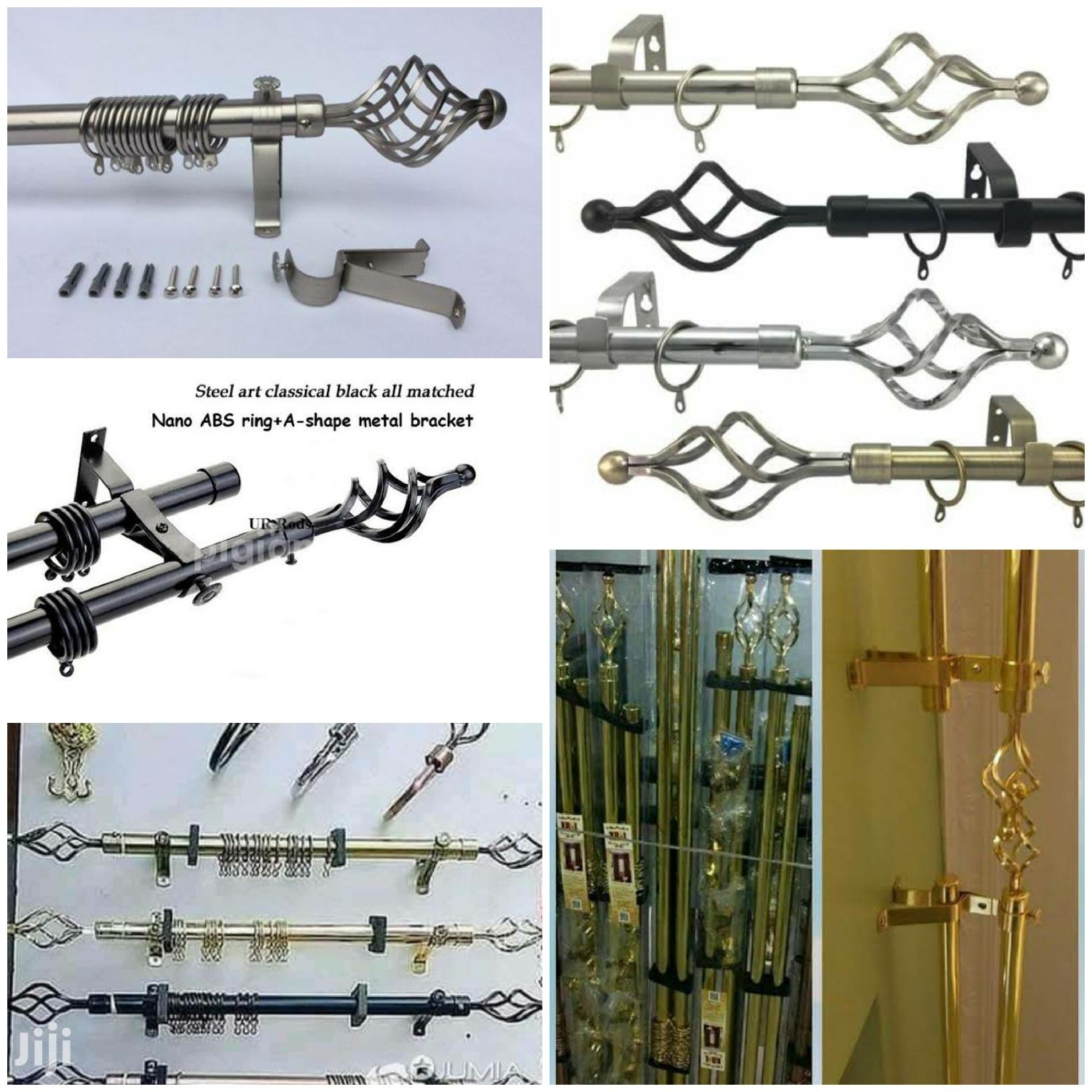 cheap curtain rods are available
