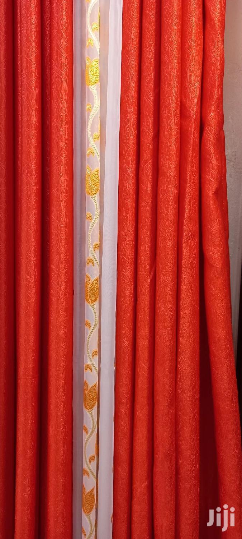 orange curtain 3m with free shears
