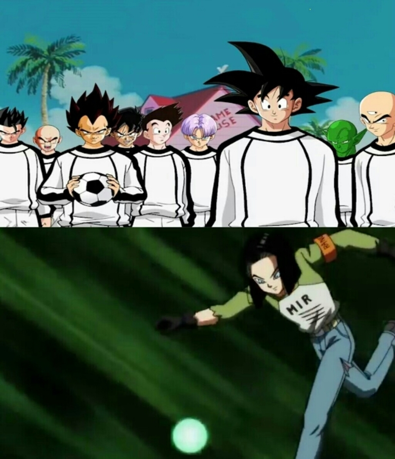 Universe 7 team *The Goalkeeper is Majin Boo (for obvious reasons)
