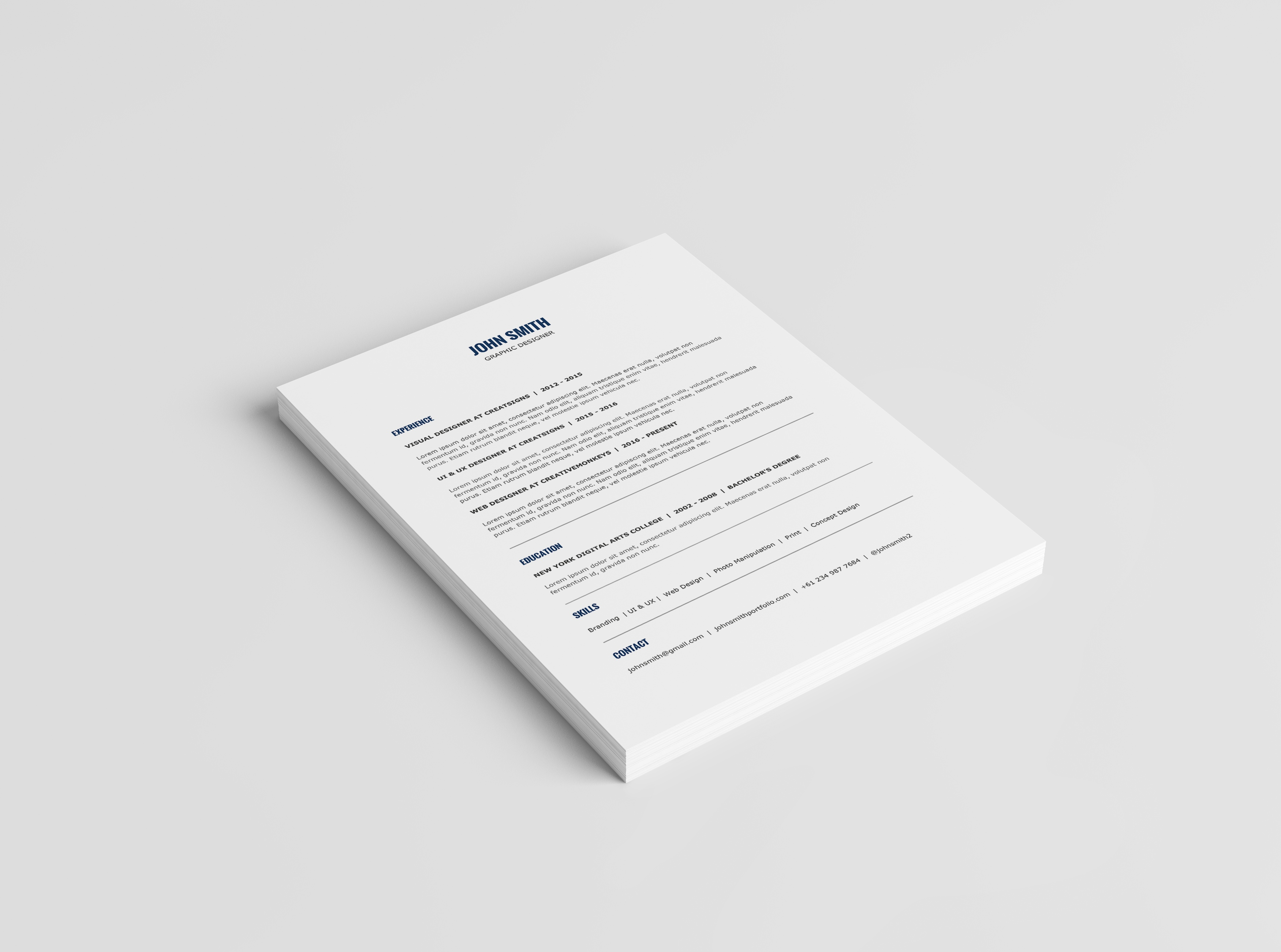 Minimalist Resume Template   Cover Letter Template   2 Minimalist Resume Template   Cover Letter Template   2016 Resume Template    MS Word