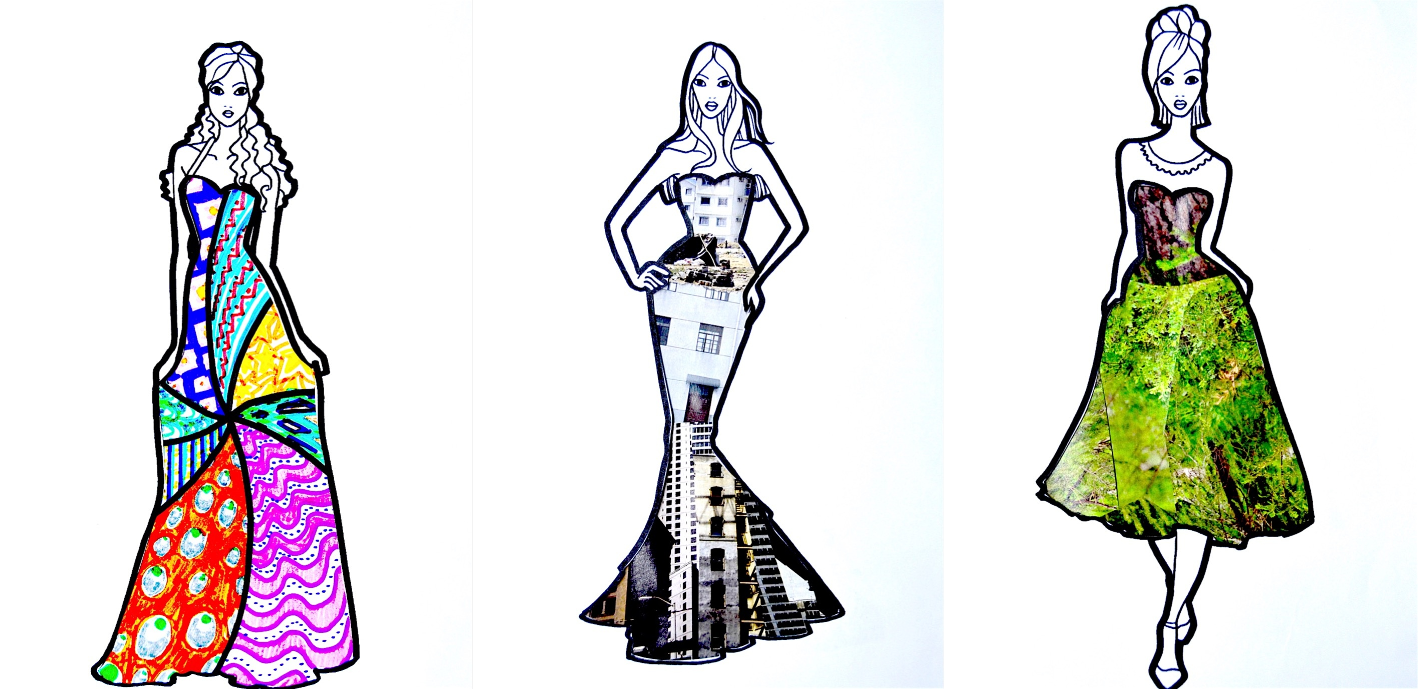 Fashion Design With Textures 8 Worksheets