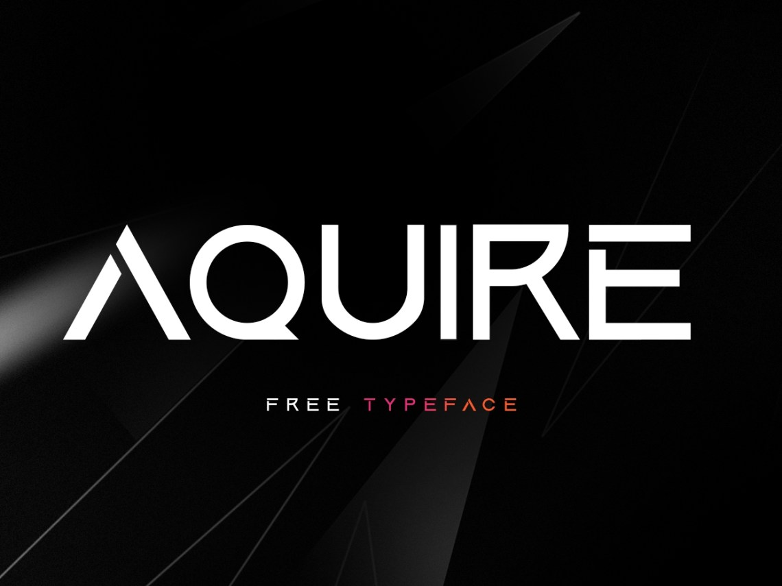 Download Aquire Font  Free for Personal Use  - Sesohq