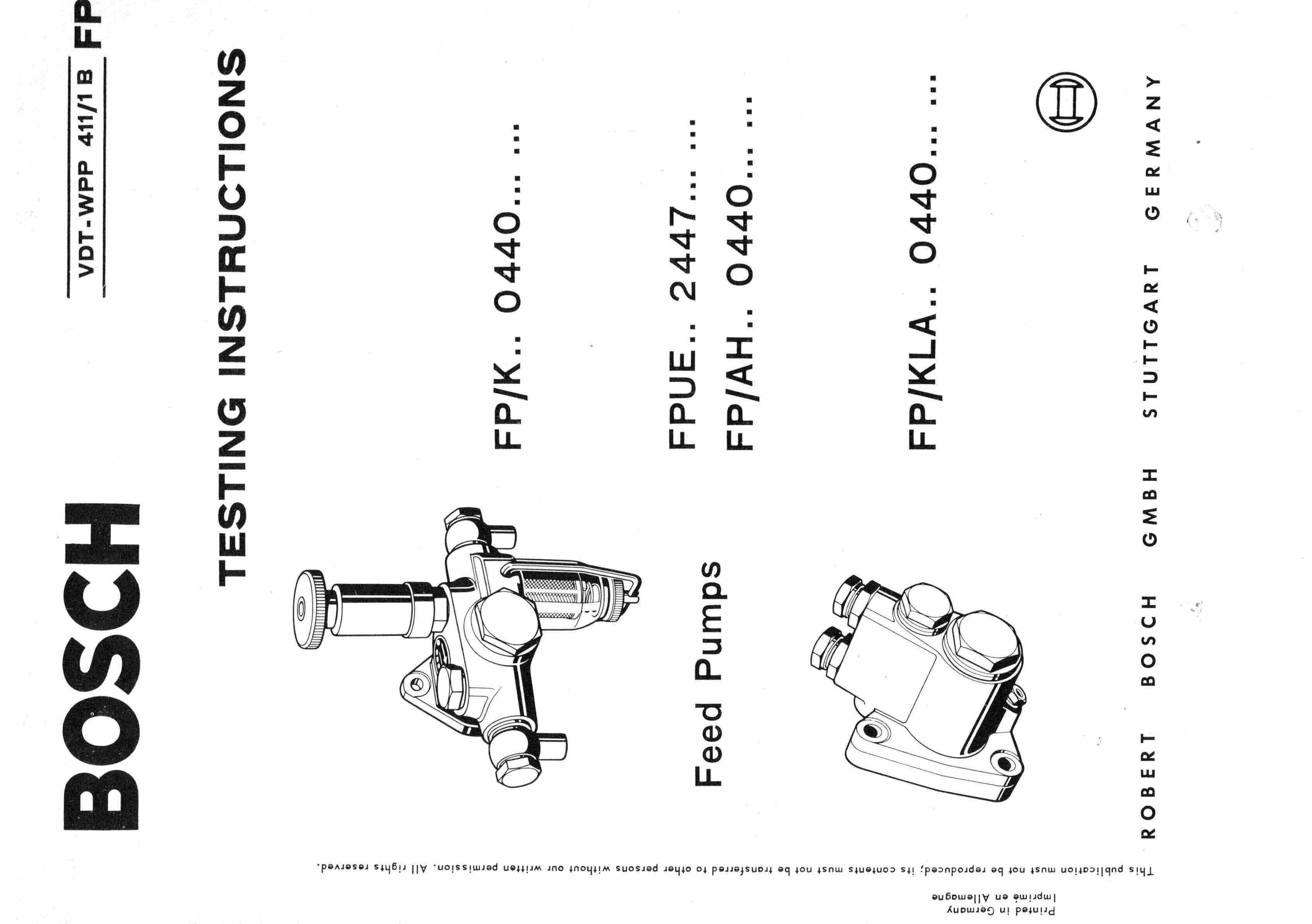 Boschsel Pump Repair Manual