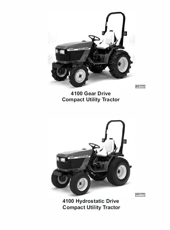 john deere 4100 compact utility tractors technical manual tm1630