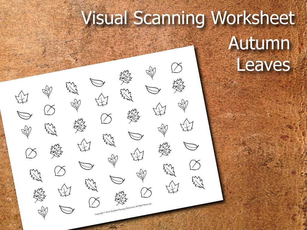 Visual Scanning Worksheet