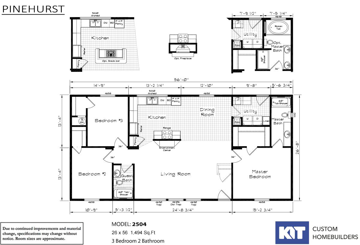 Pinehurst V1 Built By Kit Custom Homebuilders