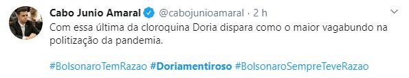 Após fala sobre cloroquina, web diz #DoriaMentiroso