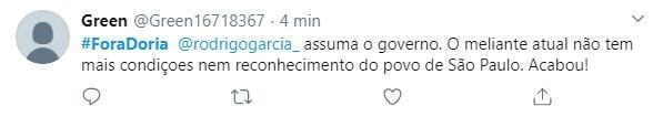 Internautas pediram impeachment de Doria pelas redes sociais