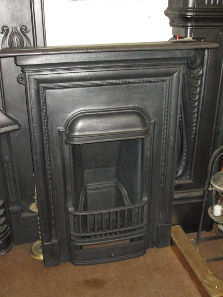 Original 1920s Cast Iron Bedroom Fireplace