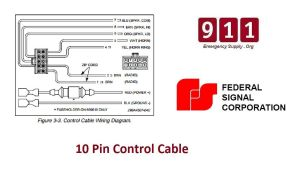 Federal Signal Siren Power Harness 10 Pin Cable PA300 690009