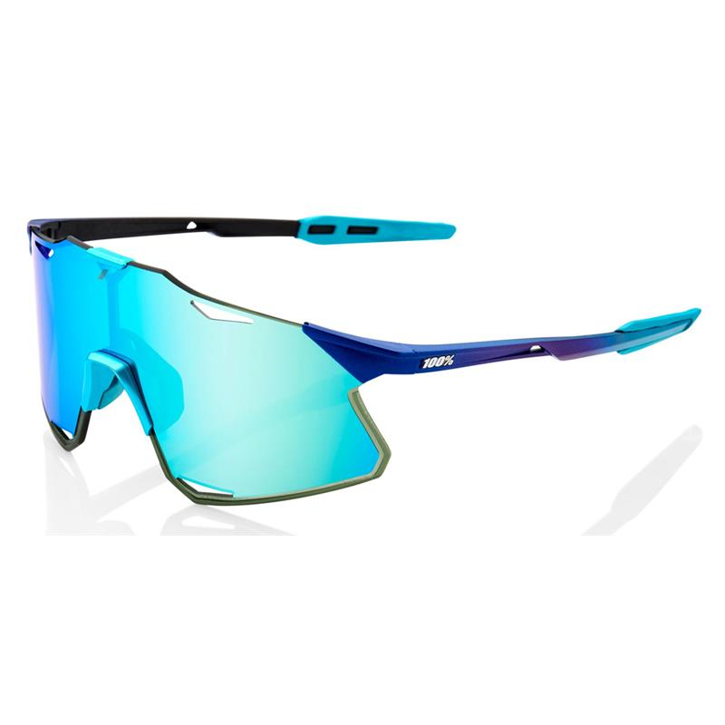 Okulary 100% HYPERCRAFT Matte Metallic Into the Fade - Blue Topaz Multilayer Mirror Lens - HiPER Silver Mirror Lens