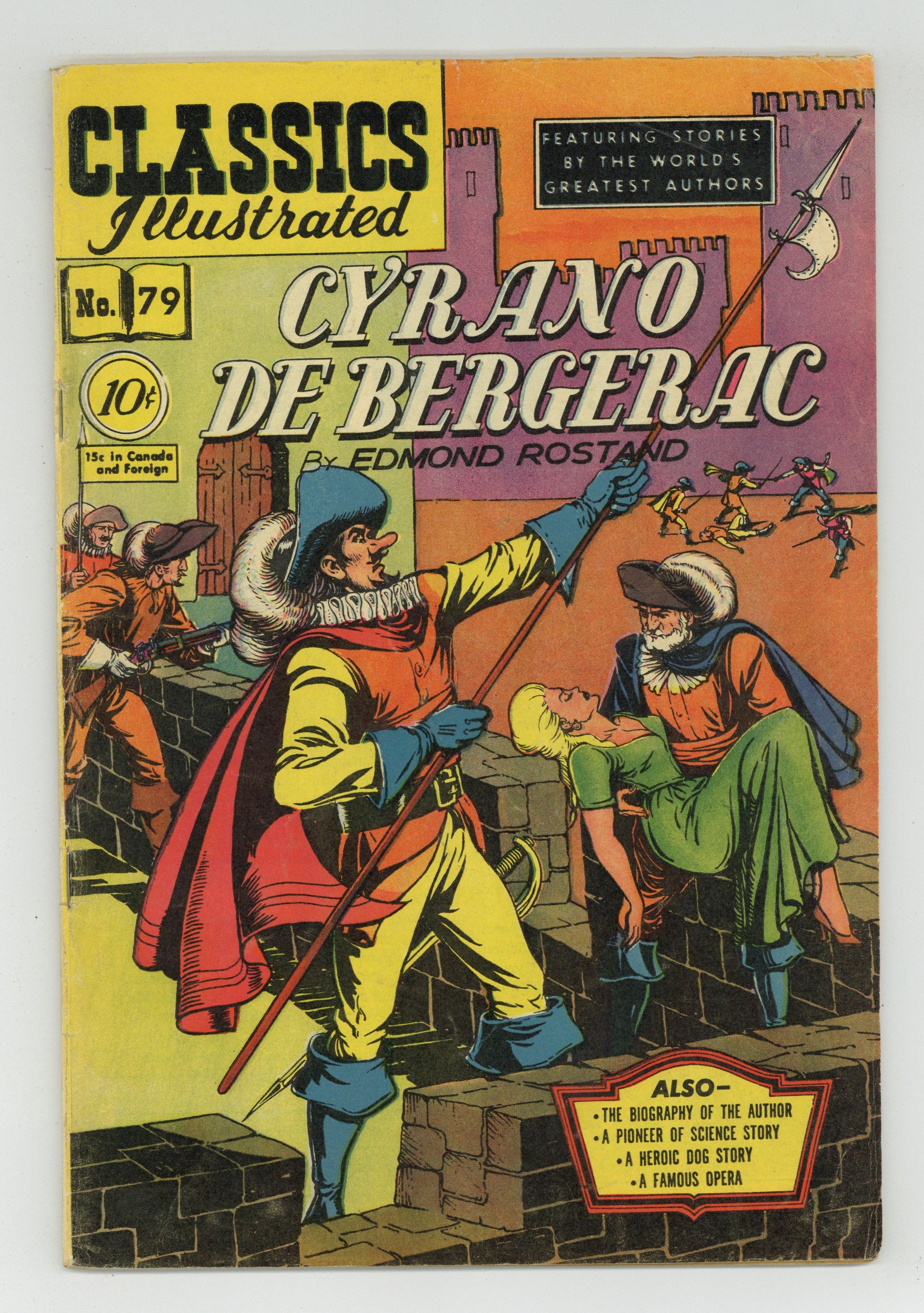 Classics Illustrated 079 Cyrano De Bergerac 1 Vg 4 0