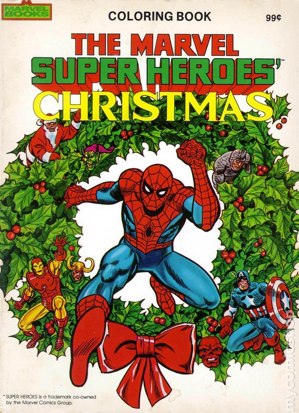 marvel super heroes christmas coloring book sc 1984 comic books