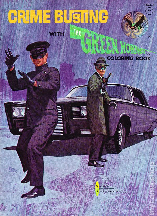Crime Busting With The Green Hornet Coloring Book 1966